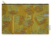Rippled Dice Abstract Carry-all Pouch
