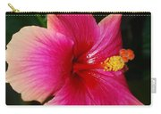 Rise And Shine - Hibiscus Face Carry-all Pouch by Connie Fox