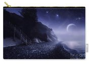 Rising Moon Over Ocean And Mountains Carry-all Pouch by Evgeny Kuklev