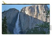 Rising Sun At Upper Yosemite Falls Carry-all Pouch