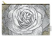 Ritzy Rose With Ink And Taupe Background Carry-all Pouch