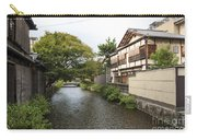 River And Houses In Kyoto Japan Carry-all Pouch