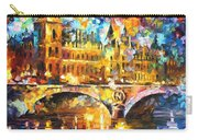 River City - Palette Knife Oil Painting On Canvas By Leonid Afremov Carry-all Pouch
