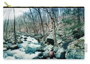 River Flowing Through A Valley, Hudson Carry-all Pouch