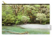 River In Rainforest Wilderness Of Fiordland Np Nz Carry-all Pouch