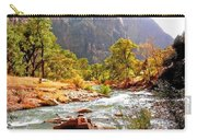 River In Zion National Park Carry-all Pouch