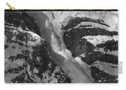1m3646-bw-river Of Ice On Snowbird Glacier Carry-all Pouch