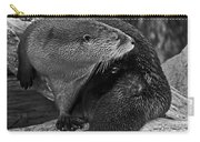 River Otter In Black And White Carry-all Pouch