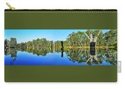 River Panorama And Reflections Carry-all Pouch by Kaye Menner