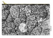 River Rocks In Stream Bed Monochrome Carry-all Pouch