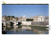 River Tiber With The Vatican. Rome Carry-all Pouch