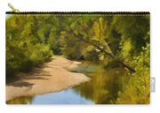 River View With Reflections - Digital Paint Carry-all Pouch