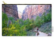 River Walk In Zion Canyon In Zion Np-ut Carry-all Pouch