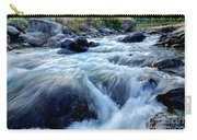 River Water Flowing Through Rocks At Dawn Carry-all Pouch