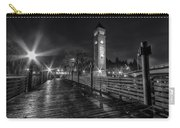 Riverfront Park Clocktower Seahawks Black And White Carry-all Pouch