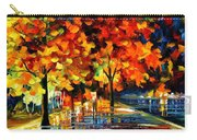 Rivershore Park - Palette Knife Oil Painting On Canvas By Leonid Afremov Carry-all Pouch