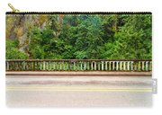 Road And Lush Green Forest Carry-all Pouch