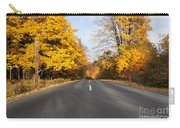 Road In Autumn Forest Carry-all Pouch