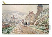 Road In Vetheuil In Winter Carry-all Pouch by Claude Monet