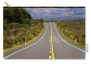 Road Leading To Active Volcanoe Mt Ngauruhoe In Nz Carry-all Pouch