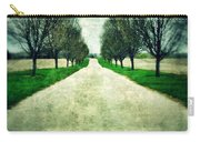 Road Lined By Trees Carry-all Pouch