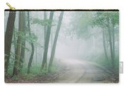 Road Passing Through A Forest, Skyline Carry-all Pouch