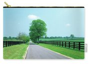 Road Passing Through Horse Farms Carry-all Pouch