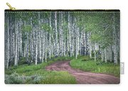 Road Through A Birch Tree Grove Carry-all Pouch