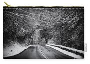 Road Through Dark Snowy Forest E93 Carry-all Pouch