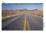 Road Through Monument Valley, Utah Carry-all Pouch