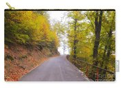 Road With Autumn Trees Carry-all Pouch