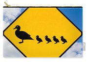 Roadsign Warning Ducks With Ducklings Crossing Carry-all Pouch