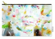 Robert Frost . Watercolor Portrait Carry-all Pouch