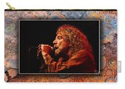 Robert Plant Art Carry-all Pouch by Marvin Blaine