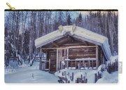 Robert Service Cabin Winter Idyll Carry-all Pouch by Priska Wettstein