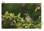 Robin And Berries Carry-all Pouch