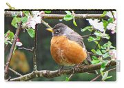 Robin In Apple Tree Carry-all Pouch