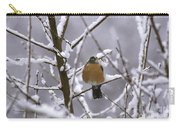 Robin In Snow Carry-all Pouch