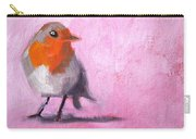 Robin On Pink Carry-all Pouch