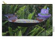 Robins In Bird Bath Carry-all Pouch
