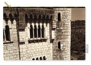 Rocamadour Stone Tower Vertical Panorama Sepia Carry-all Pouch