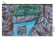 Rock Bridge Over Falls Carry-all Pouch