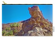 Rock Formation Higher Than Fan Palms Along Lower Palm Canyon Trail In Indian Canyons Near Palm Sprin Carry-all Pouch
