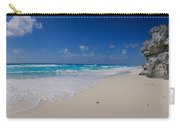 Rock Formation On The Coast, Cancun Carry-all Pouch