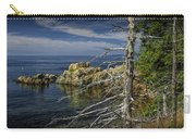 Rock Formations And Trees On The Shoreline In Acadia National Park Carry-all Pouch