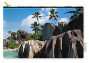 Rock Formations On The Beach, Anse Carry-all Pouch