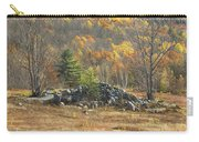 Rock Pile In Maine Blueberry Field Carry-all Pouch by Keith Webber Jr