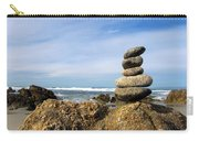Rock Sculpture At The Beach Carry-all Pouch