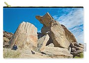 Rock Uplifts In Andreas Canyon In Indian Canyons-ca Carry-all Pouch