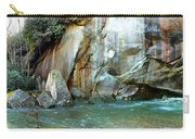 Rock Wall And River Carry-all Pouch